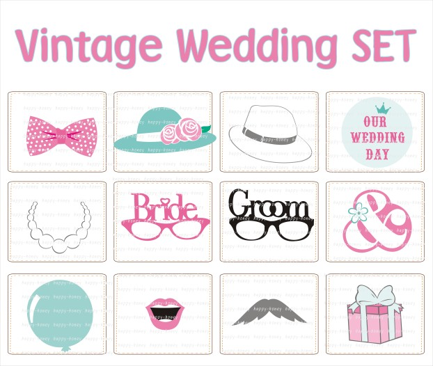 vintage wedding set