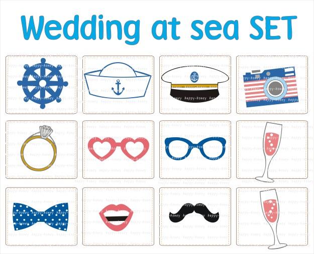 wedding at sea set